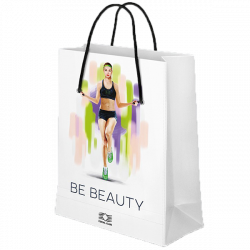 "Laminated paper bag ""BE BEAUTY"""
